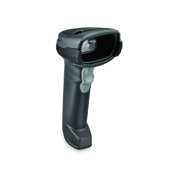 безжичен черен баркод скенер Zebra DS2278 Bluetooth поглед отстрани