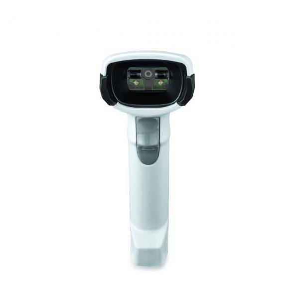 безжичен бял баркод скенер Zebra DS2278 Bluetooth поглед отпред