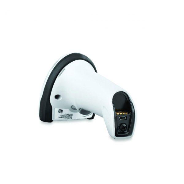 безжичен бял баркод скенер Zebra DS2278 Bluetooth поглед отдолу без кабел