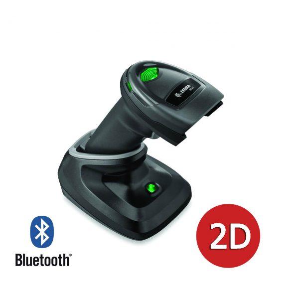 безжичен черен баркод скенер Zebra DS2278 Bluetooth със стойка