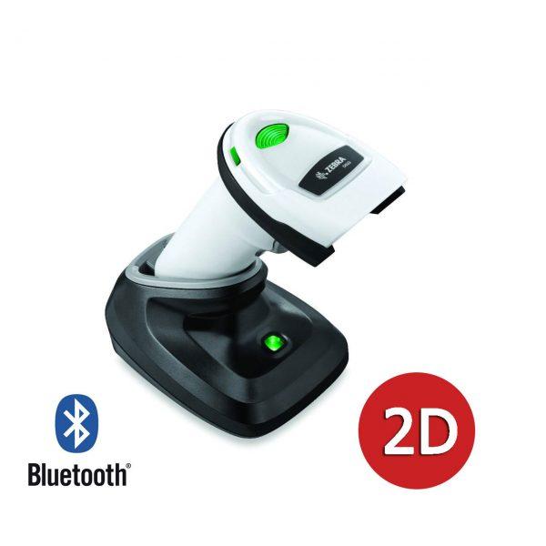 безжичен бял баркод скенер Zebra DS2278 Bluetooth със стойка