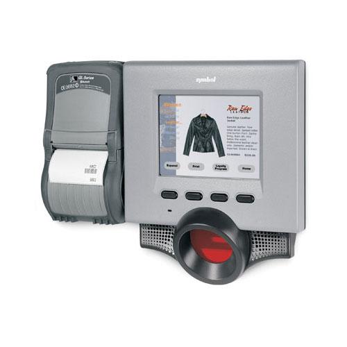 Micro Kiosk с баркод скенер Motorola MK1200 снимка с прикачен апарат