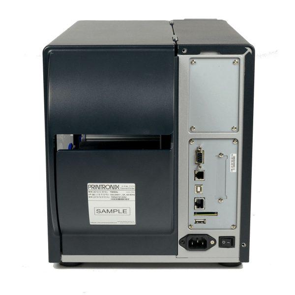 Printronix T6000 поглед отзад изходи