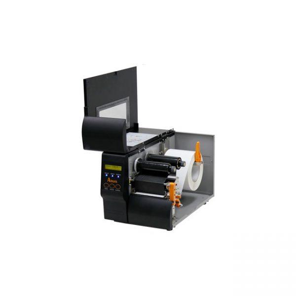 Индустриален баркод принтер Argox iX4-250 отворен с лента