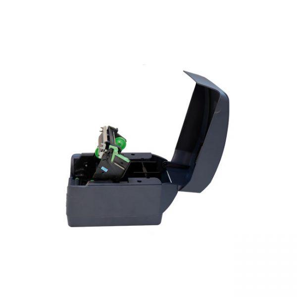 Настолен етикетен принтер Argox CP-2240 отворен поглед отсрани