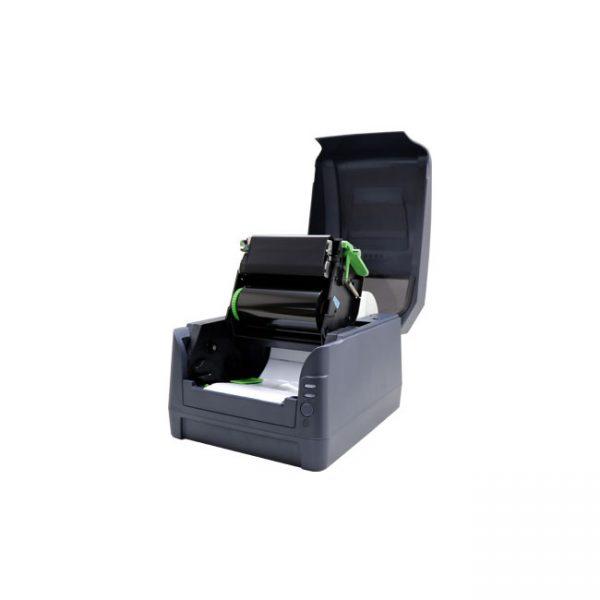 Настолен етикетен принтер Argox CP-2240 отворен с лента