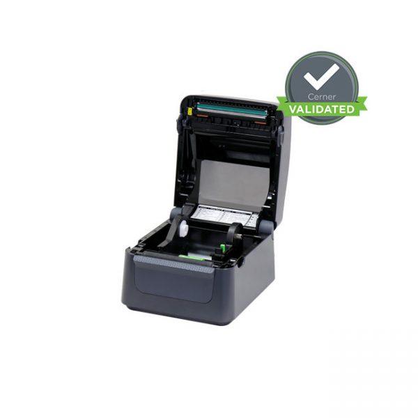 Настолен етикетен принтер Argox D4-250 отворен без лента