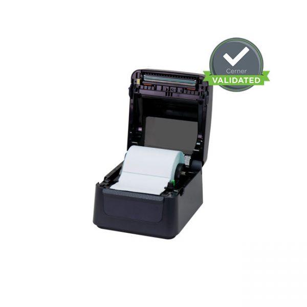 Настолен етикетен принтер Argox D4-250 отворен с лента