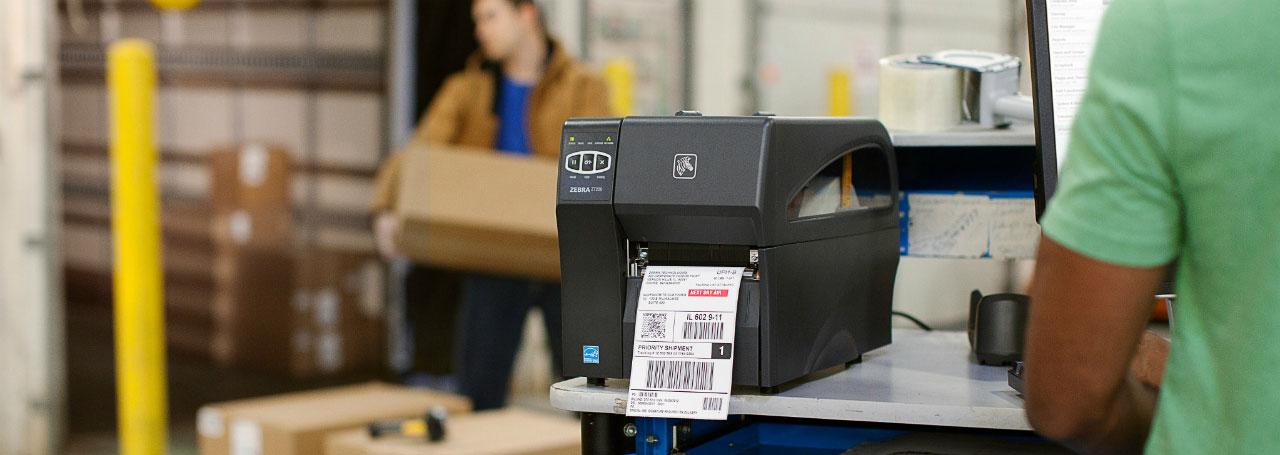 индустриален етикетен принтер Zebra ZT220 приложение