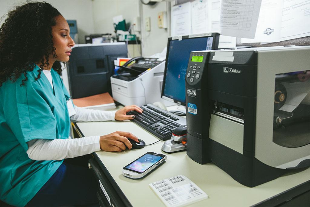 Индустриален етикетен принтер Zebra ZM400 приложение