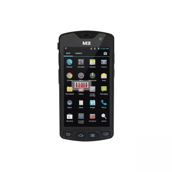 Мобилен компютър M3 SM10 с Android поглед отпред