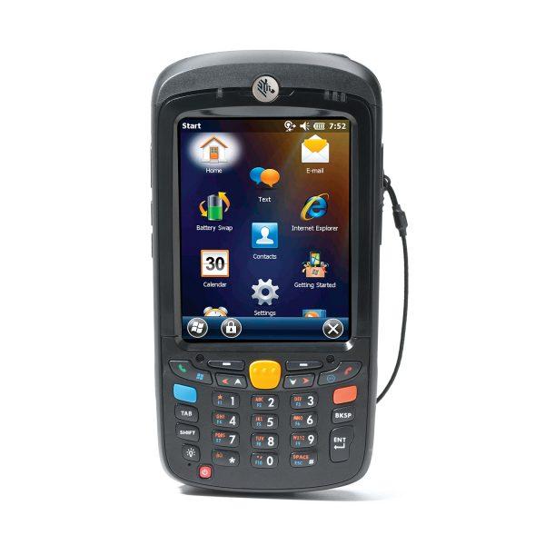 Мобилен компютър Zebra MC55 изглед отпред черен
