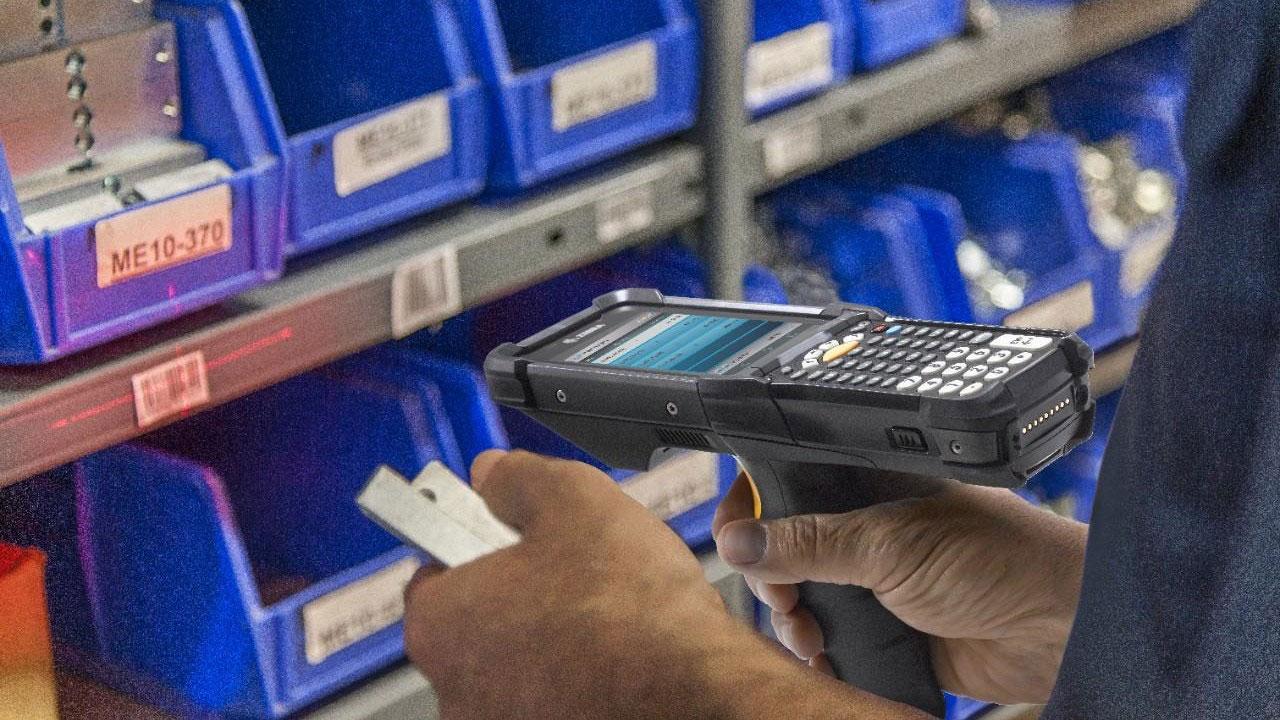 проверка на продукти с мобилен терминал Zebra MC9300