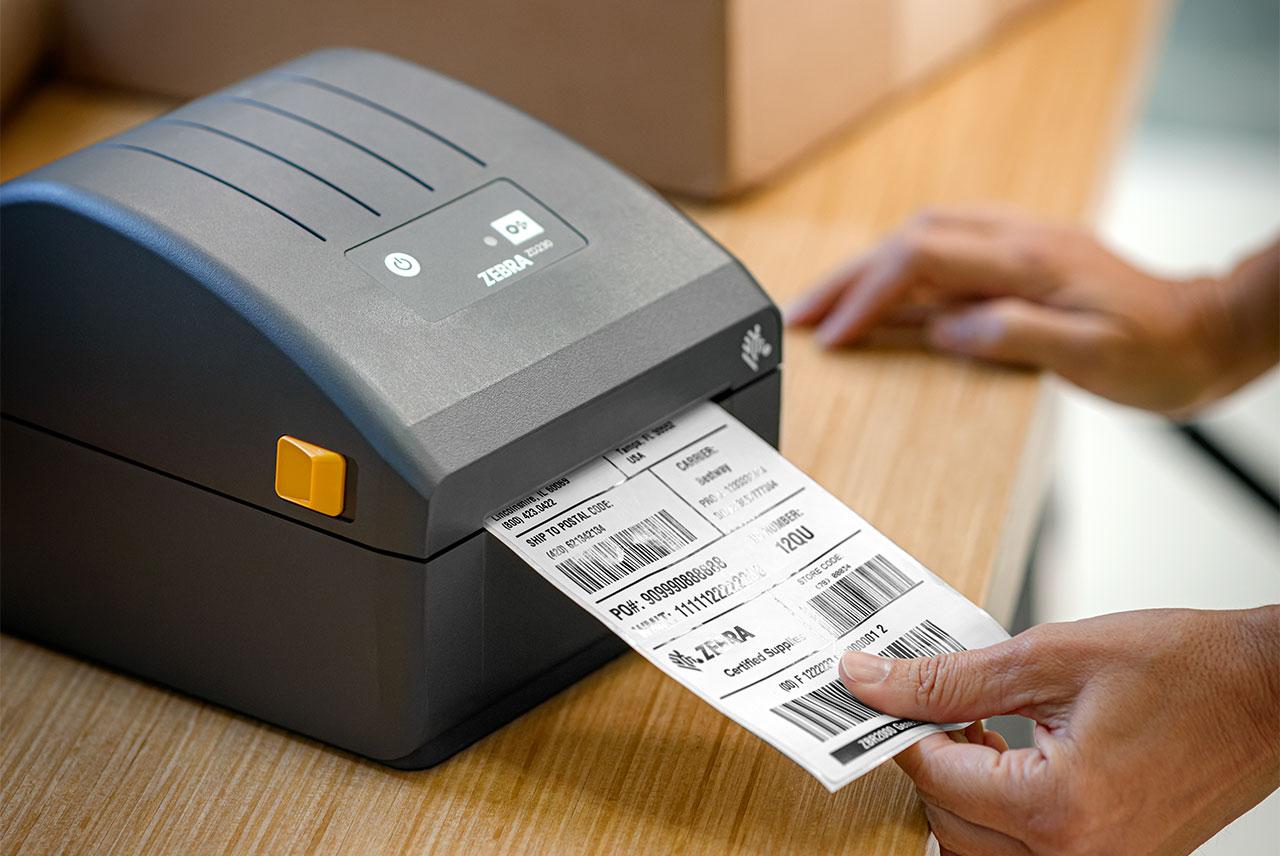 печат с термо-директен принтер Zebra ZD230D