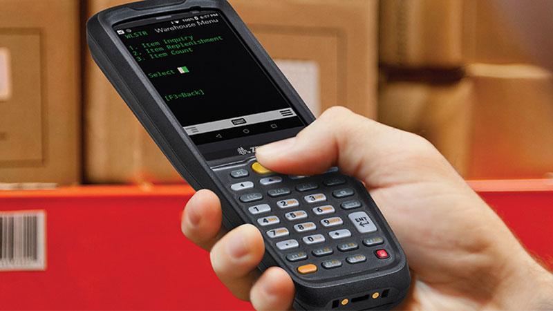 мобилен компютър Zebra MC2200 екран