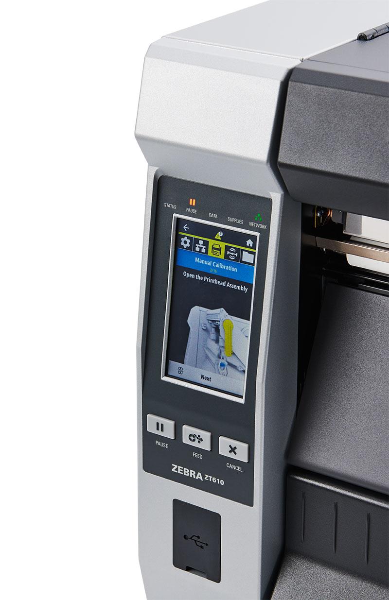 Zebra ZT610 600 dpi - дисплей product-animation