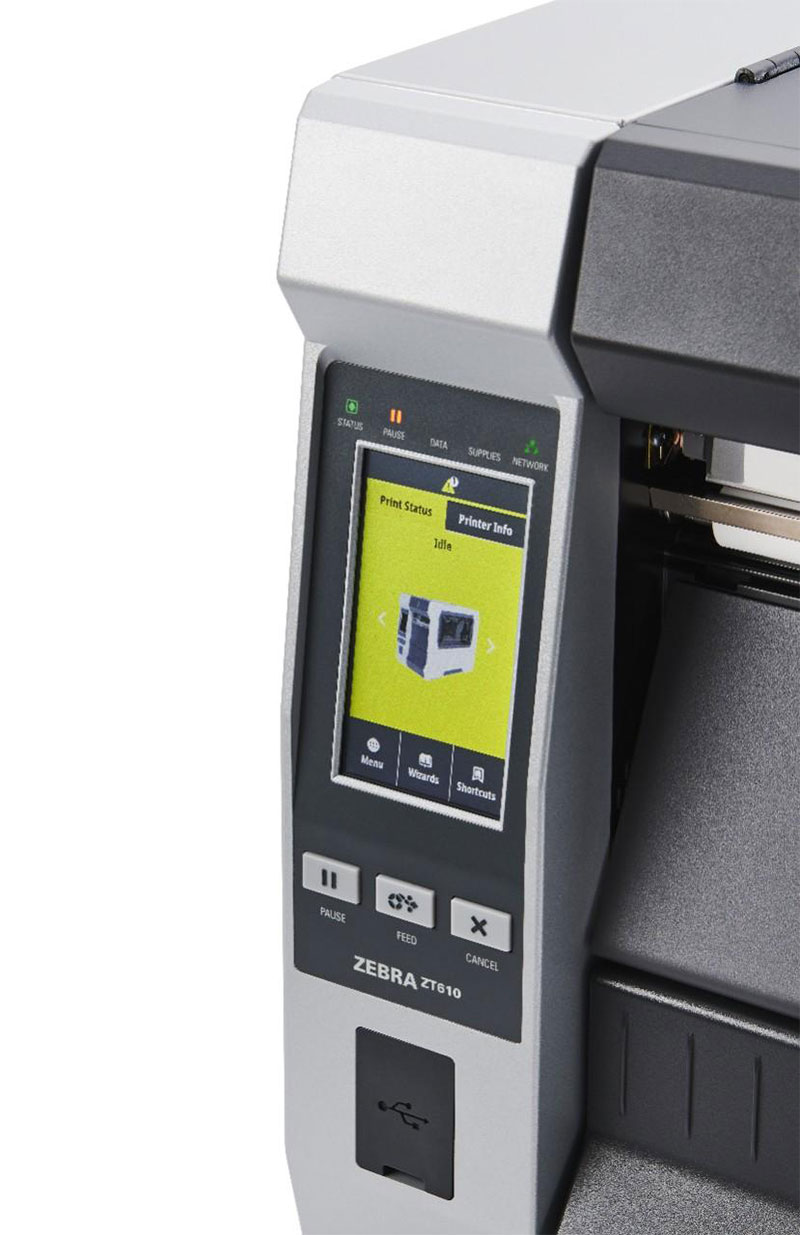 Zebra ZT610 600 dpi - дисплей product-pause