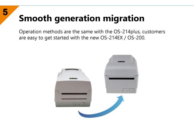 настолен етикетен принтер Argox OS-214EX - характеристики 5